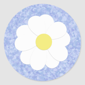 Blue Floral Daisy Sticker