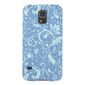 Blue Floral Damask Pattern Galaxy S5 Case