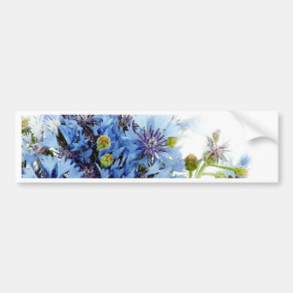 Blue floral decor arrangement clear water peaceful bumper stickers