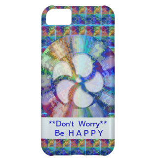 Blue Floral DREAM : Editable Text replace Greeting Case For iPhone 5C