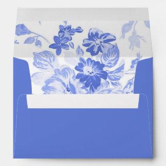 Blue Floral Envelope