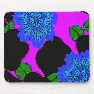 Blue Floral Fantasy Mousepad