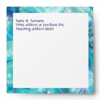 Blue floral flower party envelopes