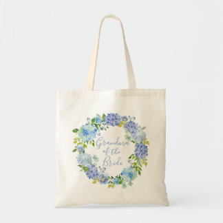 Blue Floral Grandma of the Bride Tote Bag Gift