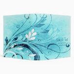 Blue Floral Grunge Binders