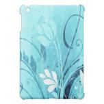 Blue Floral Grunge iPad Mini Case