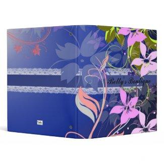 Blue Floral Lace Binder binder
