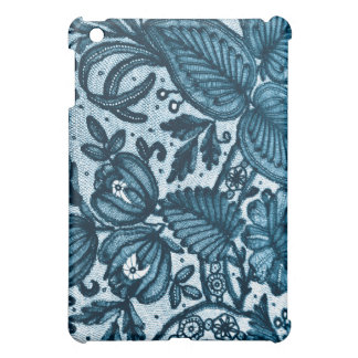 Blue Floral Lace  Cover For The iPad Mini