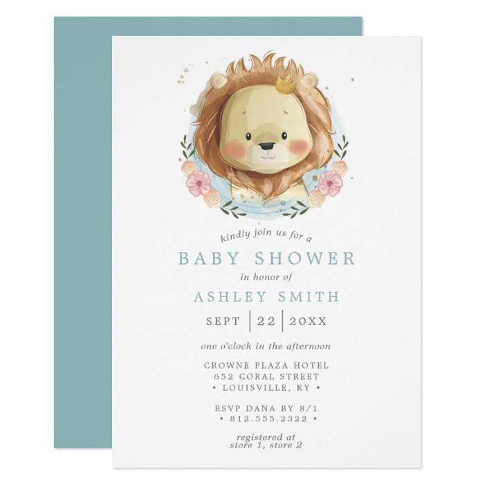 It's just an image of Printable Lion King Baby Shower Invitations intended for safari