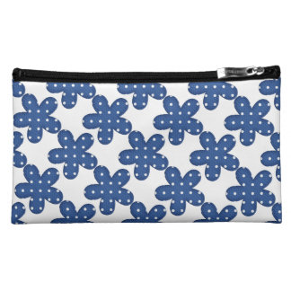Blue floral make up bag cosmetic bags