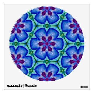Blue Floral Mandala Wall Decal.1 Wall Sticker
