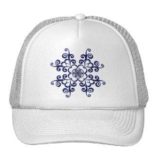 Blue Floral Medallion Hat