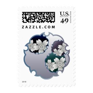 Blue Floral Medallion Stamp