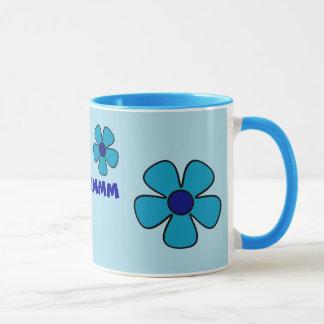 Blue Floral Mug - Yoga Gifts