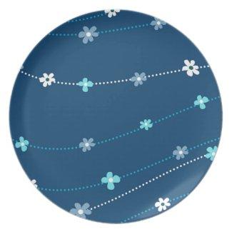 Blue Floral Ornament Plate