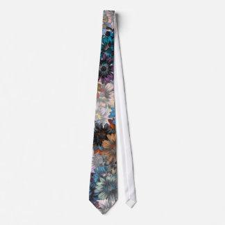 Blue floral patten tie