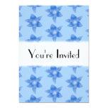 "Blue Floral Pattern. 5"" X 7"" Invitation Card"