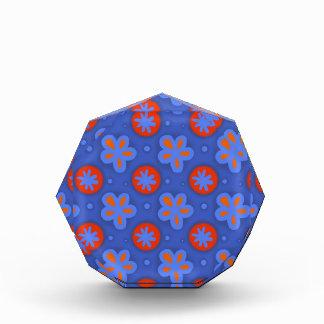 blue floral pattern award