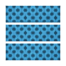 blue floral pattern canvas print
