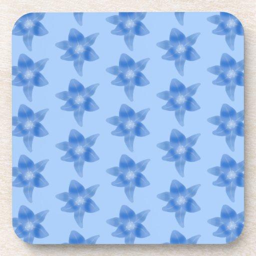 Blue Floral Pattern. Drink Coasters