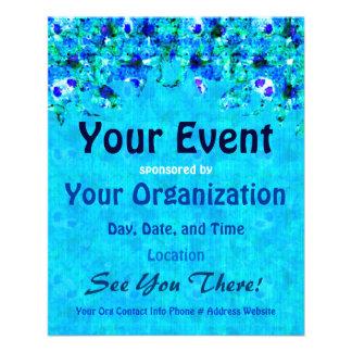 Blue Floral Pattern Event Flyer