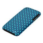 Blue Floral Pattern iPhone 3 Covers