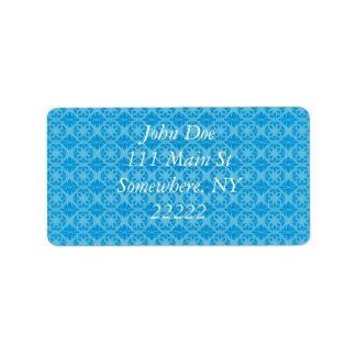 Blue Floral Pattern Label