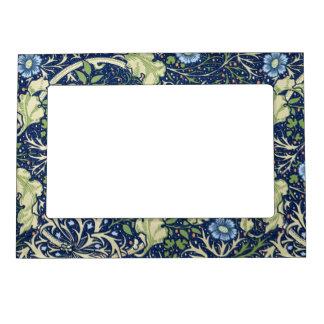 Blue Floral Pattern Magnetic Frame