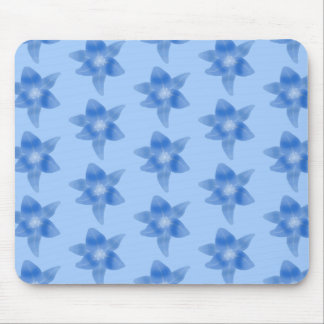 Blue Floral Pattern. Mouse Pad
