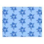 Blue Floral Pattern. Postcard