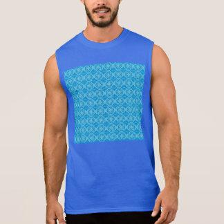 Blue Floral Pattern Sleeveless Shirt