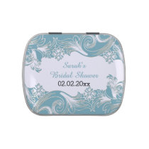 blue floral personalized candy tins