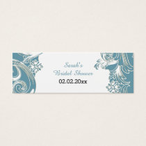 blue floral Personalized Gift Tags