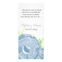 blue floral Personalized Menu cards
