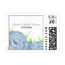 blue floral Personalized Stamps