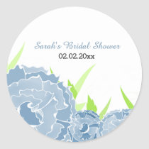 blue floral Personalized stickers