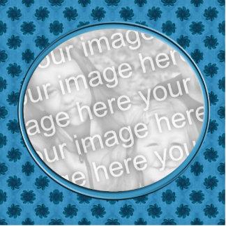 blue floral photo frame photo cut outs