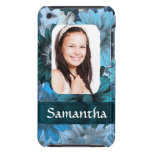 Blue floral photo template iPod touch cover