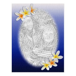 Blue Floral Photo Template Postcard