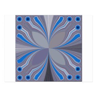 Blue Floral Postcard