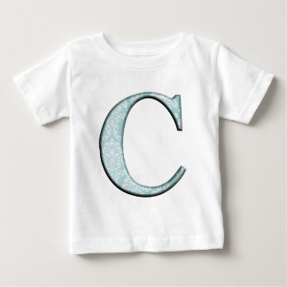 Blue Floral Print C monogram initials Gifts Baby T-Shirt