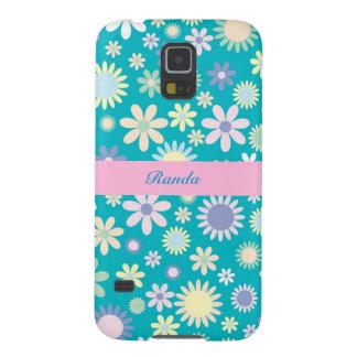 Blue Floral Samsung Galaxy s5 Case