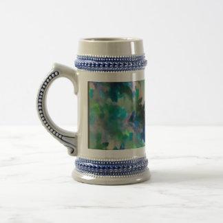 Blue Floral Stein Mug