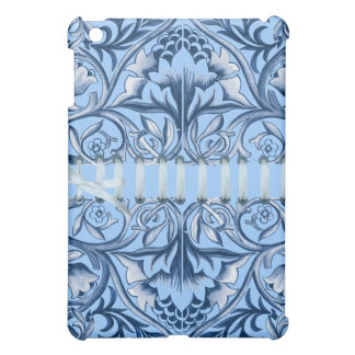 Blue Floral Stitched iPad Case