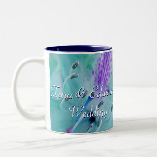Blue Floral Two-Tone Coffee Mug