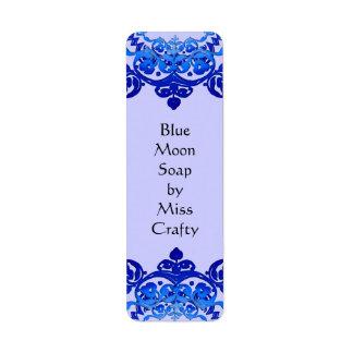 Blue Floral Vintage Art Custom Labels