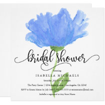 Blue Floral Watercolor | Bridal Shower Invite