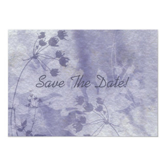 Blue Floral Watercolor Save The Date Card