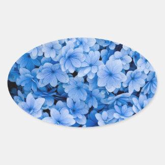 Blue Floral Wedding Envelope Seal Stickers