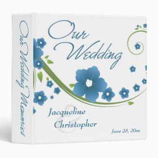 Blue Floral Wedding Memories Binder